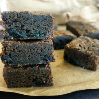 Rum And Raisin Brownies.