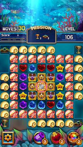 Jewel Abyss: capturas de pantalla de Match3 4