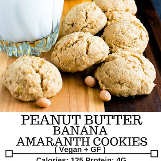 Peanut Butter Banana Amaranth Cookies.