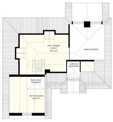 Dom na parkowej - Rzut strychu