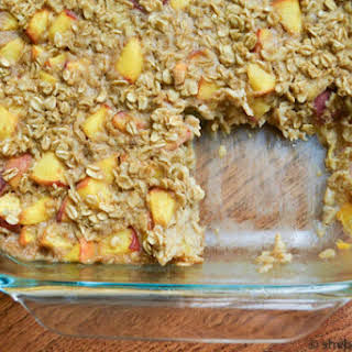 Ginger Peach Baked Oatmeal One 8x11 pan.