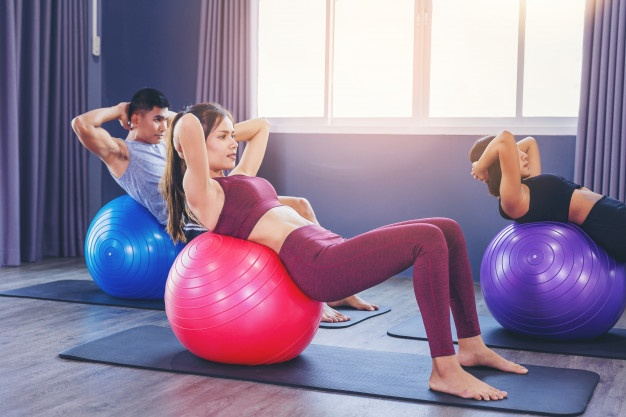 Exercise ball for abs