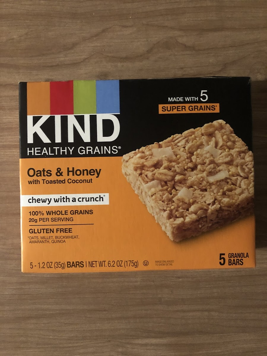 Healthy Grains, Granola Bars, Oats & Honey With Toasted Coconut