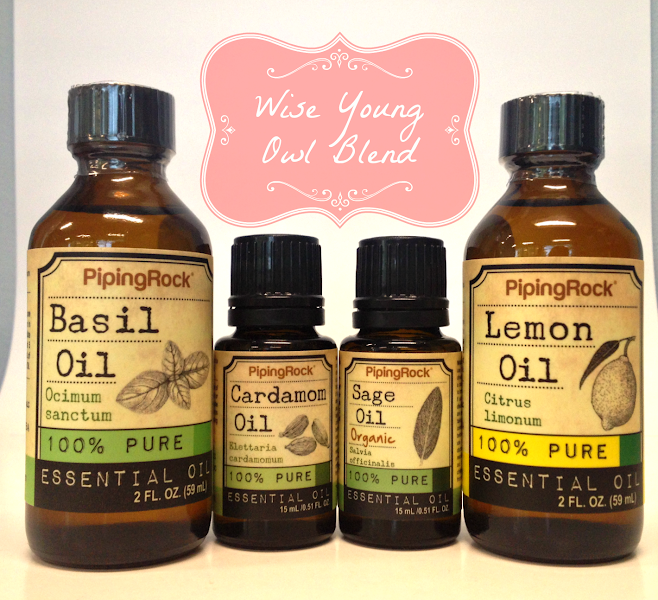 Photo: This week's Aromatherapy Recipe features a fragrant blend of mind-stimulating essential oils: The Wise Young Owl!  Perfect for when you have a big day ahead, this blend can help your mind optimize its youthful sharpness.** Whether you're inhaling this potent aroma or combining with a carrier oil and using it topically, this blend can instill feelings of mental vibrancy you need to get through anything the day throws at you!**  Try it out for yourself & let us know what you think!  Ingredients: 1 drop Sage Oil (bit.ly/1sLawuV) 4 drops Basil Oil (bit.ly/1jTrEf4) 2 drops Lemon Oil (bit.ly/1r2EqH1) 2 drops Cardamom Oil (bit.ly/1rokjVL)  Uses: - Add blend to a diffuser, humidifier or oil burner - Mix well with 40 mL warm water in a spray bottle and spritz - Add blend to your shower steam in the morning before stepping in - Combine with 40 mL any carrier oil (bit.ly/1mA75PL) to create your own unique massage oil. Gently rub into shoulders, neck and the bottoms of your feet  #pipingrock #essentialoils #aromatherapy #naturalproducts #healthyliving
