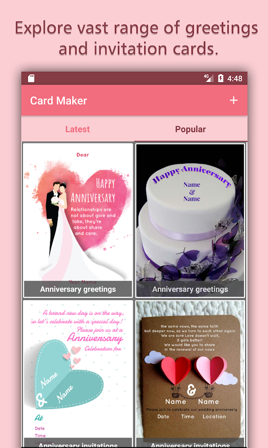 Party Invitations & Greeting Cards Maker Android Apps on