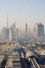 Photo: First morning. View towards downtown Dubai from rooftop of Park Regis Kris Kin hotel