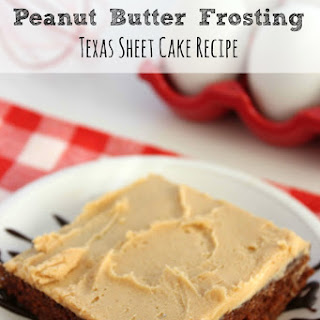 Chocolate Cake With Peanut Butter Frosting | Texas Sheet Cake.