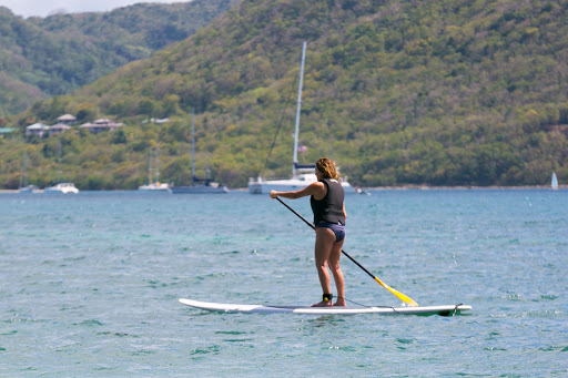 stand-up-paddleboarding.jpg - Stand-up paddleboarding on Pigeon Island, St. Lucia.