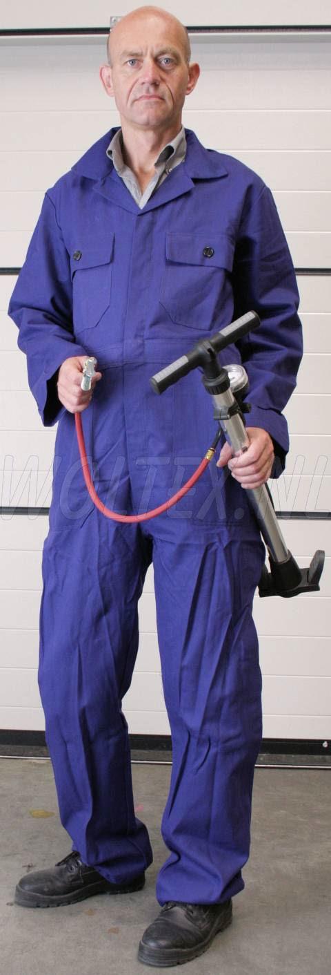Woltex Overalls katoen Proban® knoop d.blauw