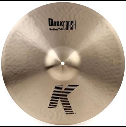 """17"""" K Zildjian - Dark Medium Thin Crash"""