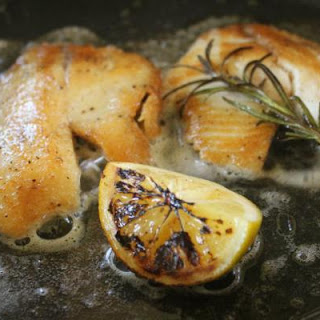 Freshwater Fish with Meyer Lemon and Rosemary.