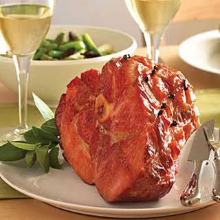 Classic Baked Ham with Maple-Mustard Glaze.