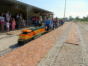 Photo: David Hannah III and Donna Green leaving the station.     HALS Public Run Day 2014-0419 RPW  10:08 AM