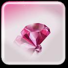 Rosa Diamanten Hintergrund icon