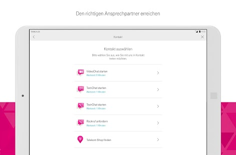 MagentaSERVICE Screenshot
