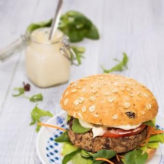 Beefy Portobello Black Bean Burger