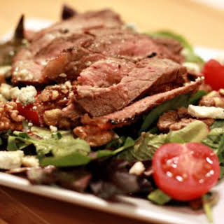 Maple-Glazed Steak Salad with Blue Cheese.