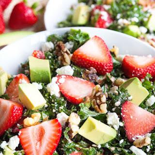 Strawberry and Avocado Kale Salad.