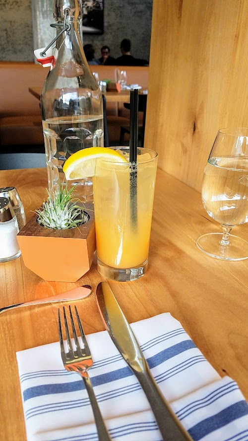Alto Bajo housemade daily agua fresca (and add your choice of rum, tequila and mezcal if you want).