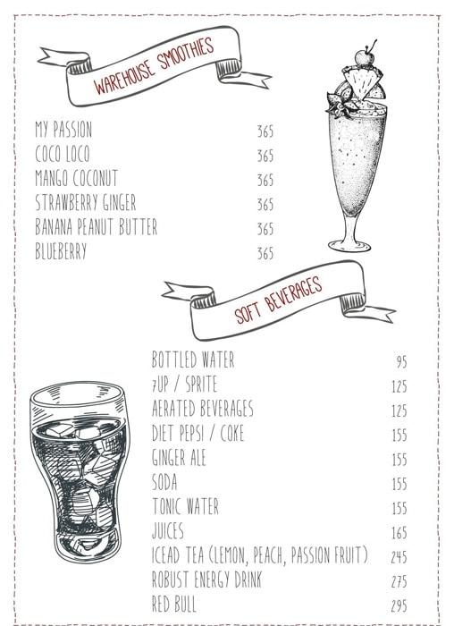 Warehouse Cafe menu 8