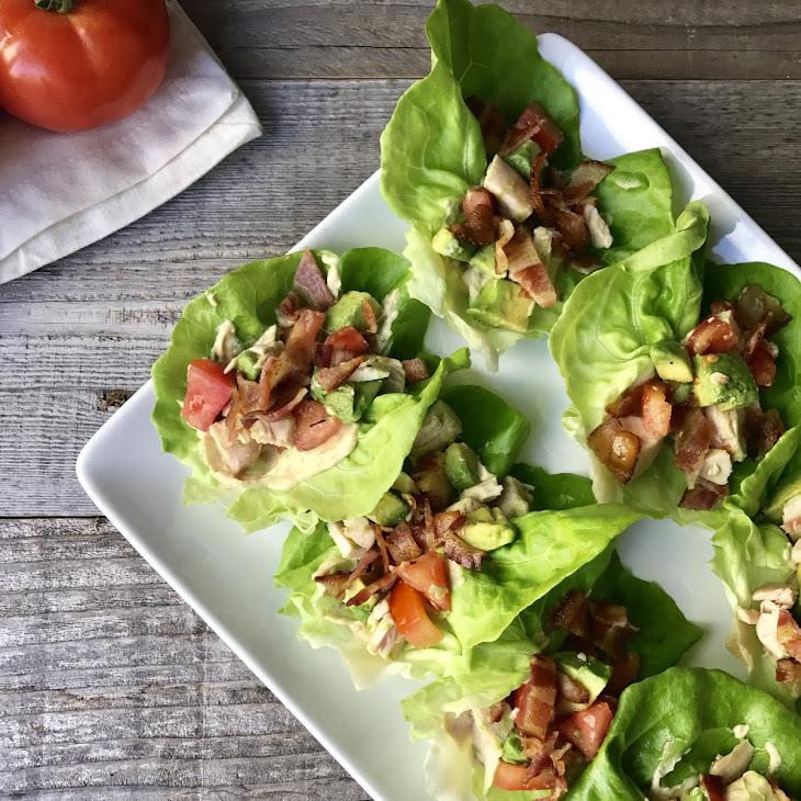 BLTA Chicken Lettuce Wraps Recipe