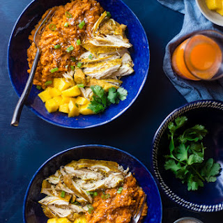 Slow Cooker Mango Chicken and Sweet Potato Bowls