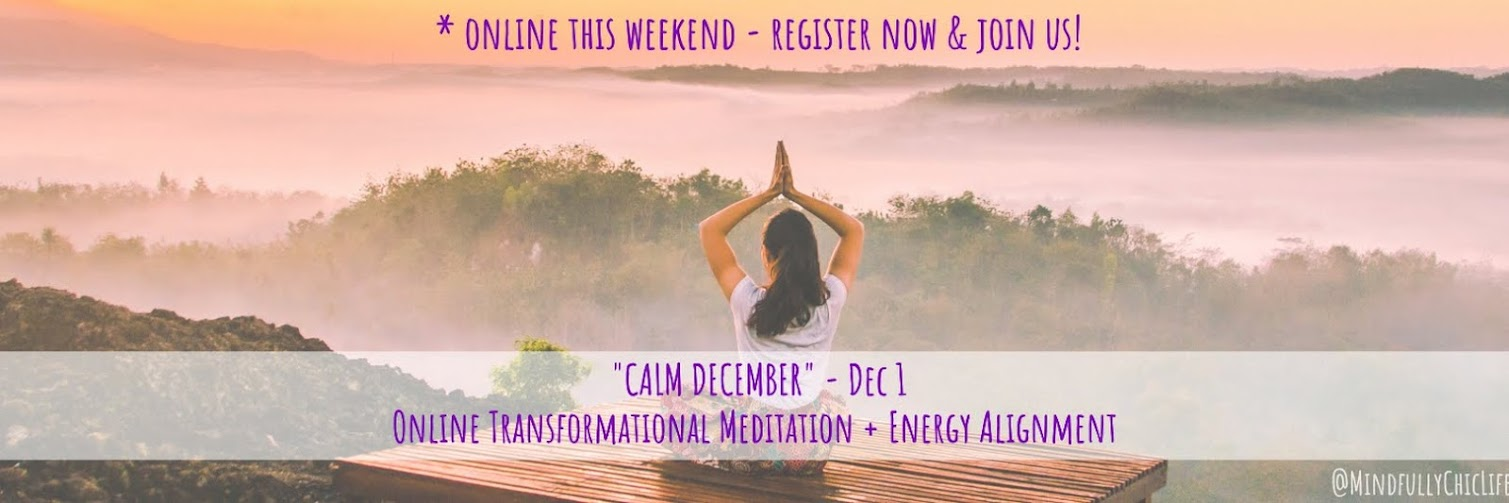 """Calm December"" | Online Transformational Meditation & Energy Alignment | 1 Dec"