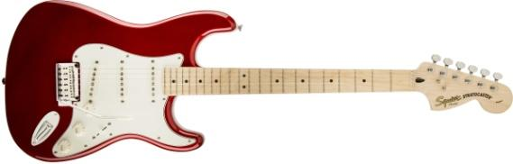 Kết quả hình ảnh cho Squier by Fender Standard Stratocaster Electric Guitar - Candy Apple Red - Maple Fingerboard