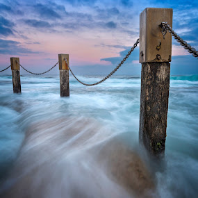 Inundation by Rebecca Ramaley - Landscapes Waterscapes ( maroubra, mahon pool, sunset, australia, long exposure, sydney )