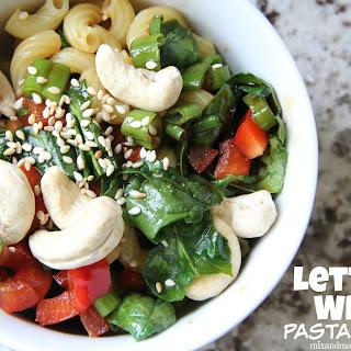 Lettuce Wrap Pasta Salad.
