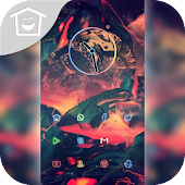 Abstract ink fantasy theme