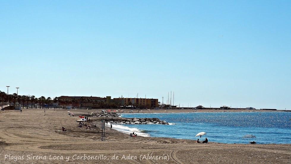 Playas Sirena Loca y Carboncillo, de Adra.