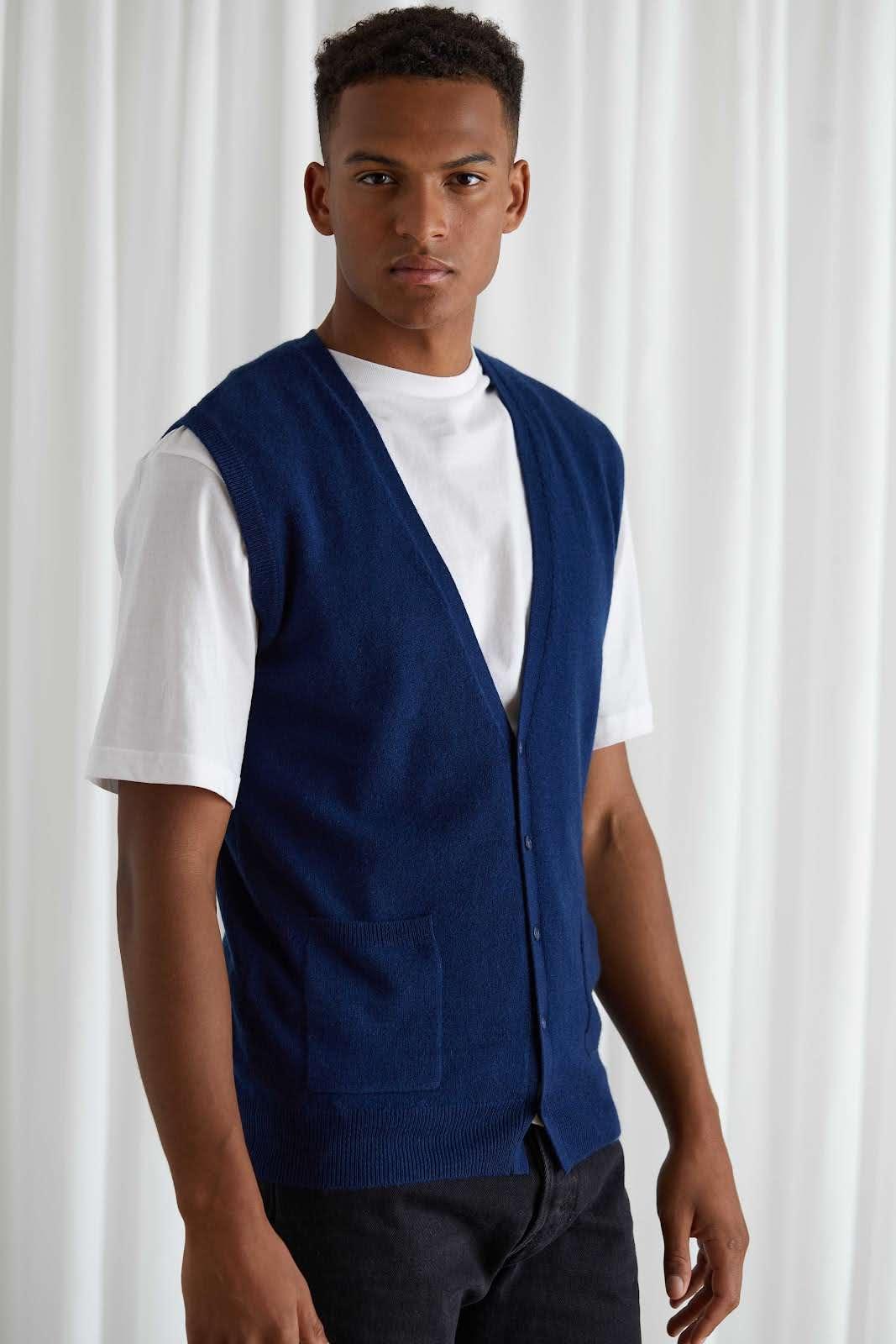 Man Cardigan Vest