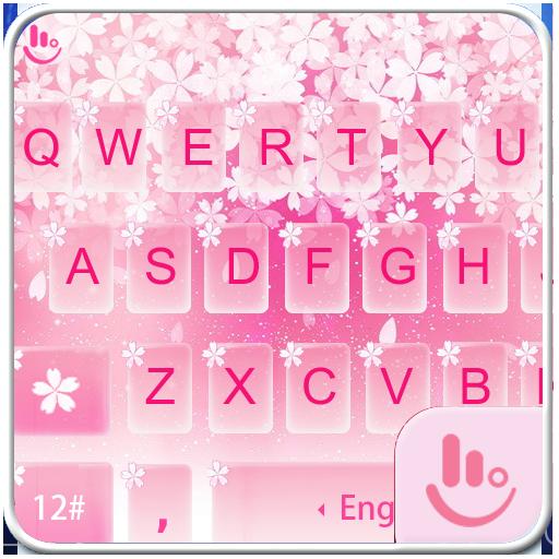 Pink Sakura Snow Keyboard