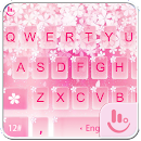 Pink Sakura Snow Keyboard v 6.8.23