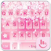 Pink Sakura Snow Keyboard