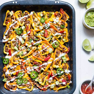 Mexican Mini Bell Pepper Nachos.