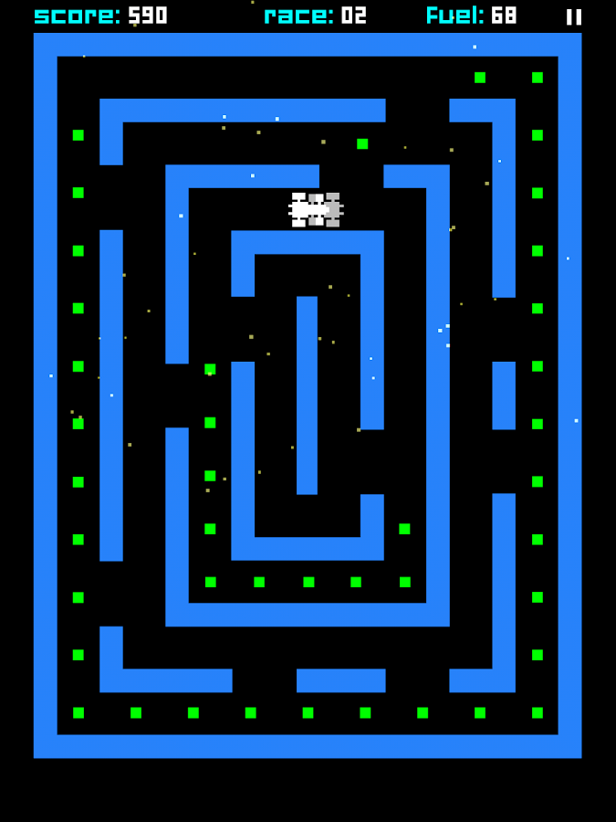 ZX Maze GP - 8-bit F1 racer- screenshot