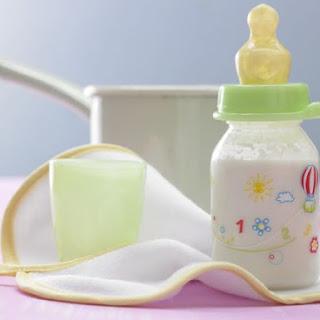 Rice Porridge with Apple Juice.