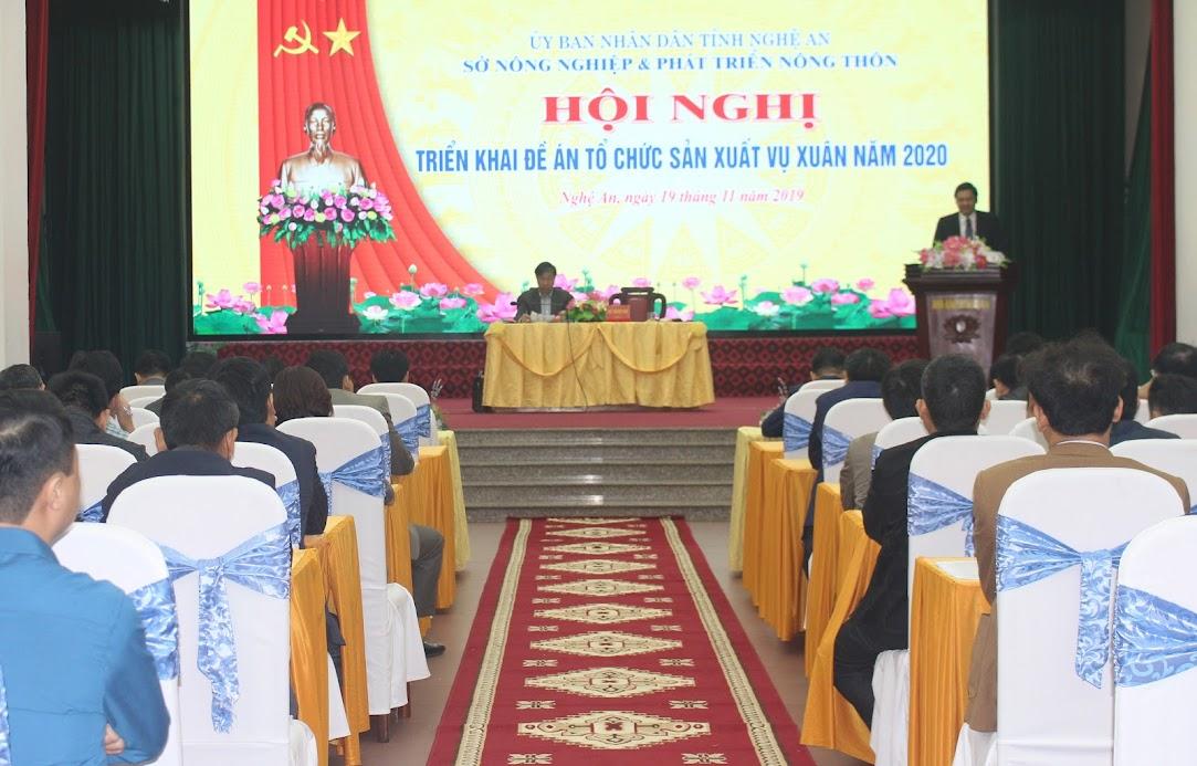 Hội nghị triển khai đề án tổ chức sản xuất vụ xuân năm 2020.