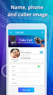 Fake call, prank call style OS Capture d'écran