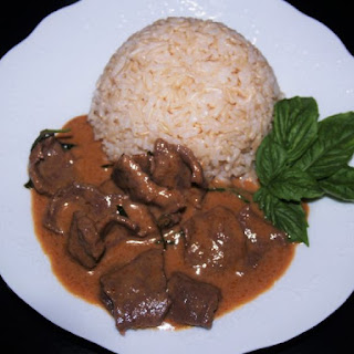 Easy Panang Curry Beef.