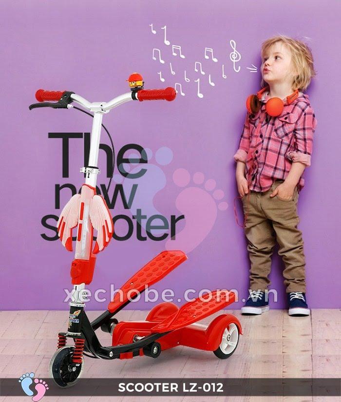 Xe trượt Scooter đạp chân LZ-012 có đèn, nhạc 3