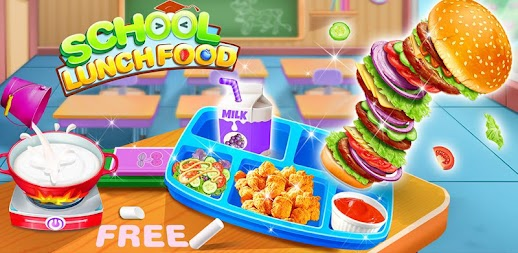 School Lunch Food Maker – Cooking Food Games APK