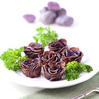Purple Potato Roses.