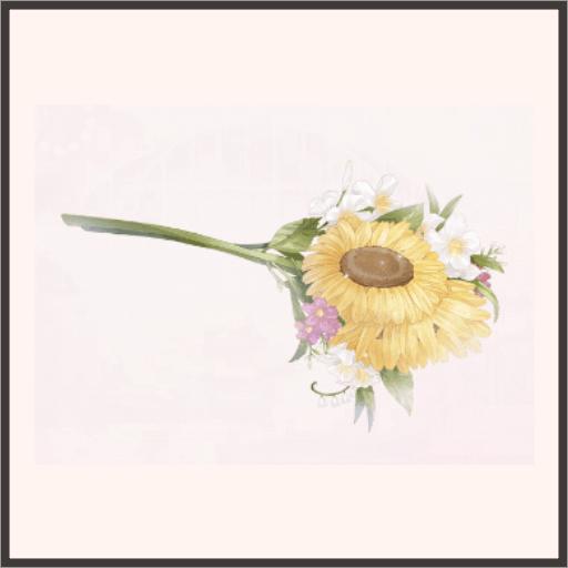 ヒマワリの花束