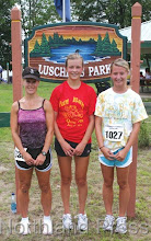 Photo: Top three Female 5K runners (l-r):