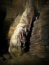 Photo: Flowstone wall.