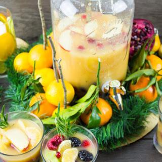 Fruity Non Alcoholic Sangria and Orange Salmon Bites Party