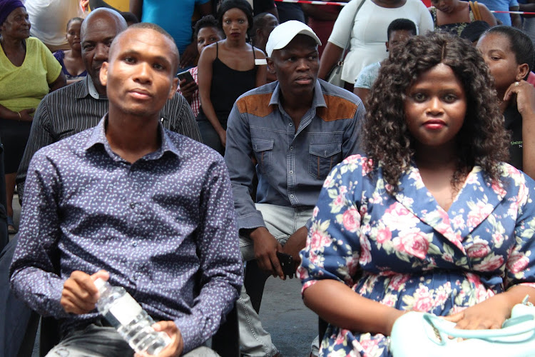 Taxi driver Nhlonipho Zulu and mother Ntombenhle Mthembu at the event hosted by Santaco in Richards Bay.